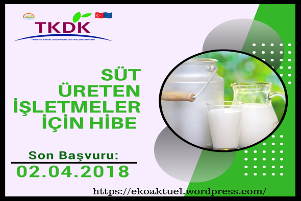 Süt Üreten İşletmeler İçin Hibe Desteği